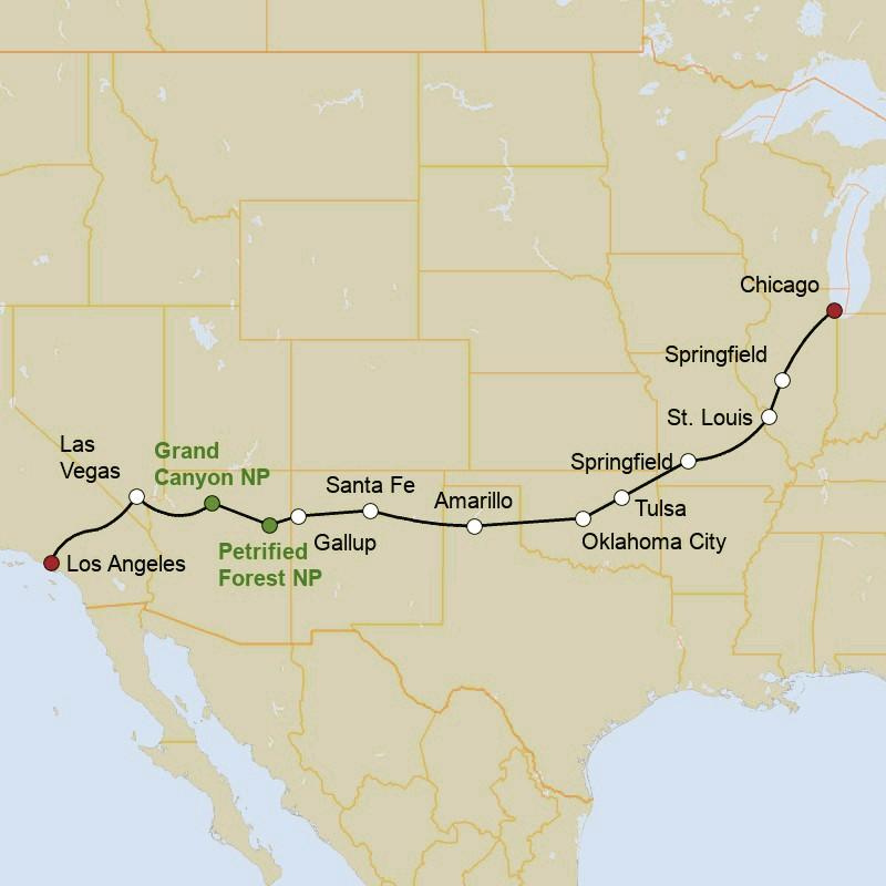 Kuoni Reisen: Legendäre Route 66 - USA